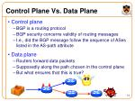 control plane vs data plane