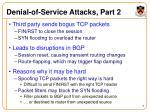 denial of service attacks part 2