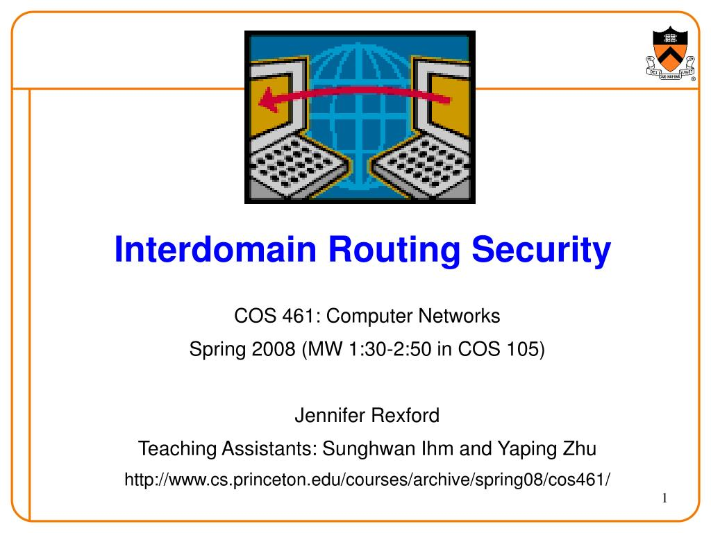 interdomain routing security l.