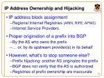 ip address ownership and hijacking