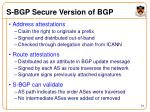 s bgp secure version of bgp