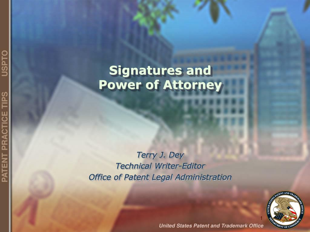 signatures and power of attorney l.