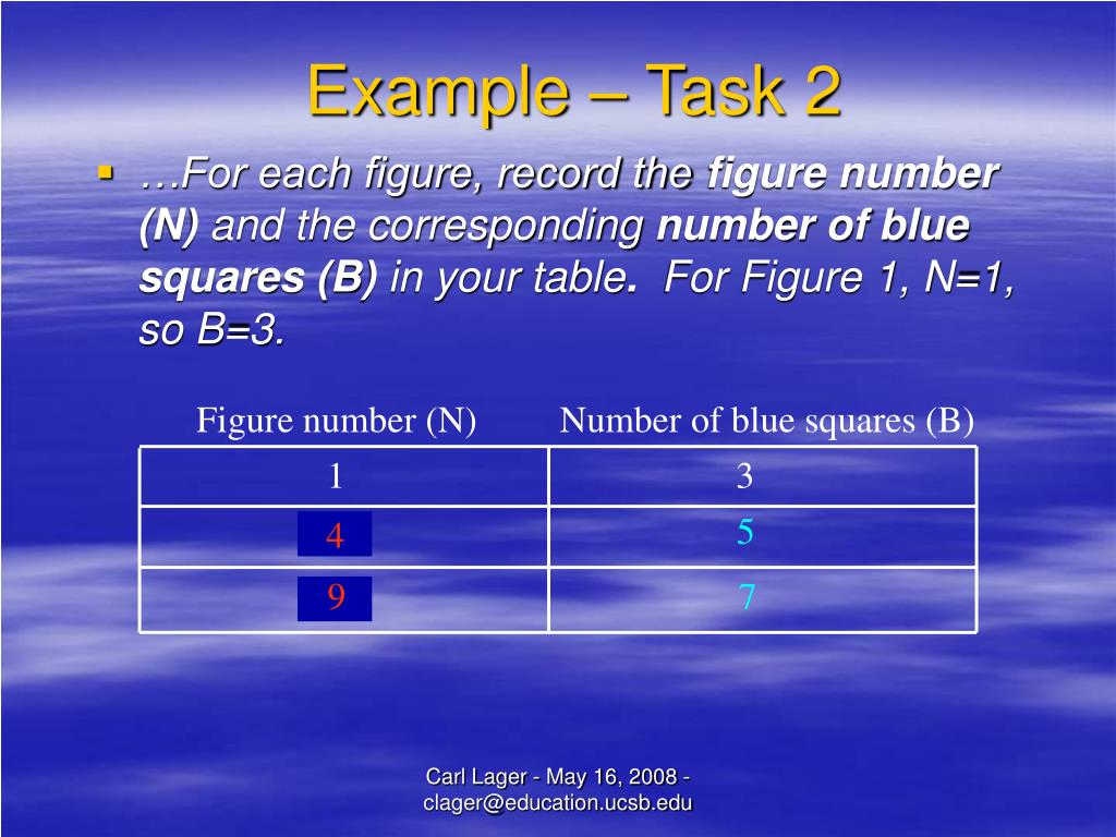 Example – Task 2
