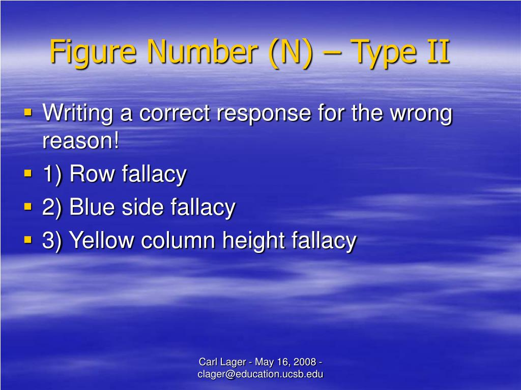 Figure Number (N) – Type II