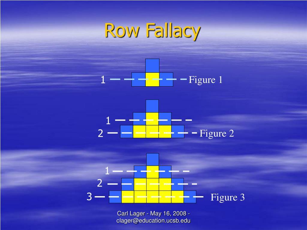 Row Fallacy