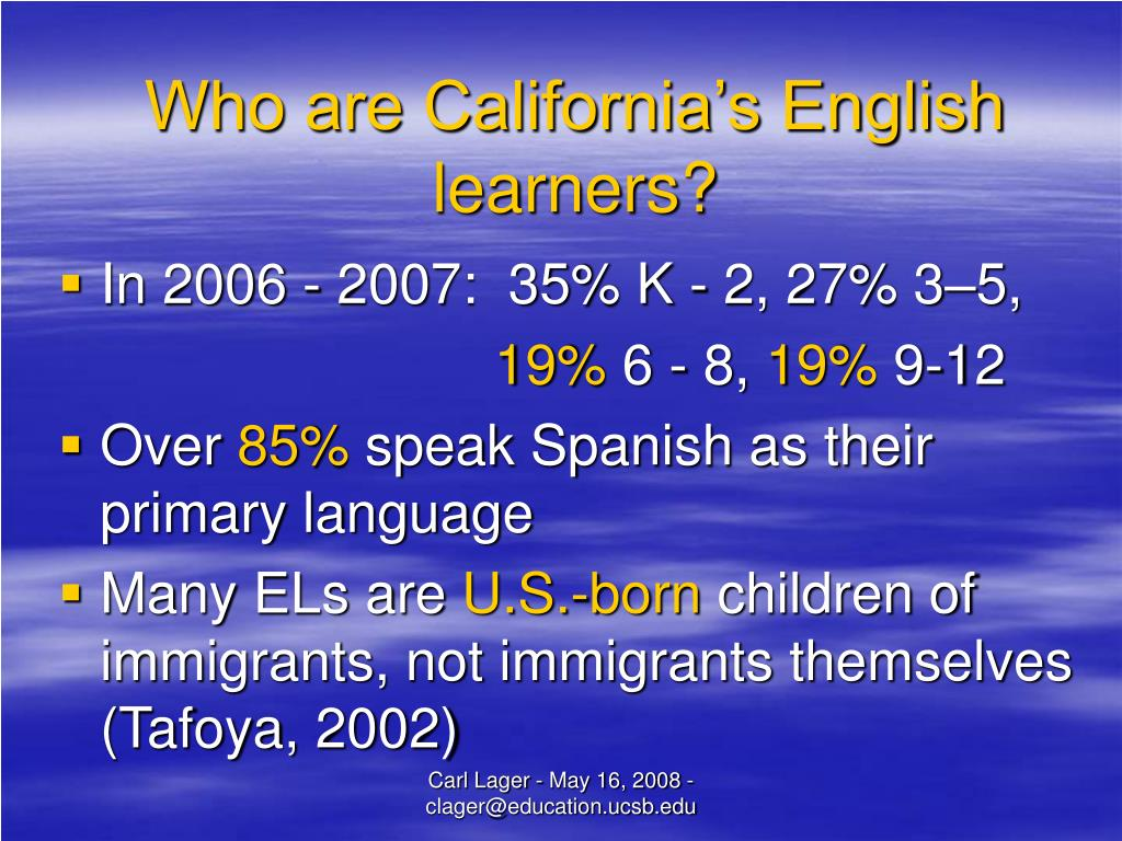 Who are California's English learners?