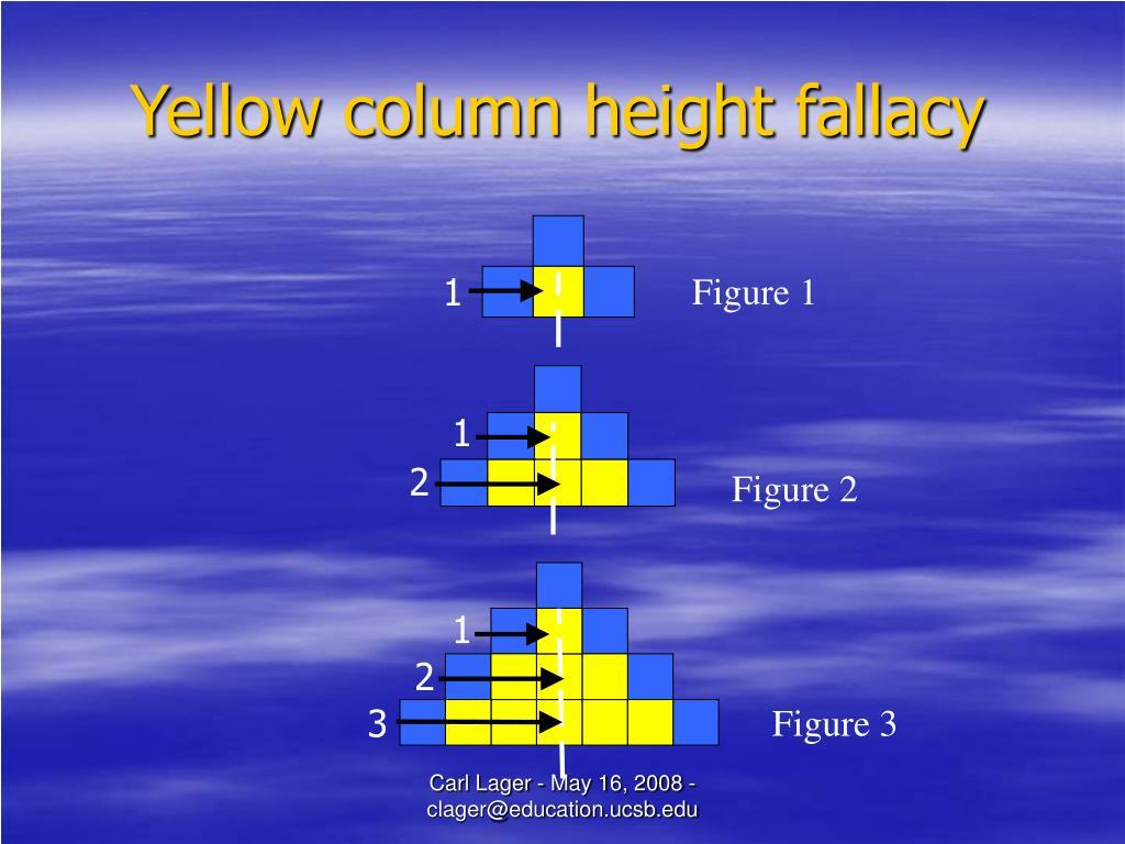 Yellow column height fallacy