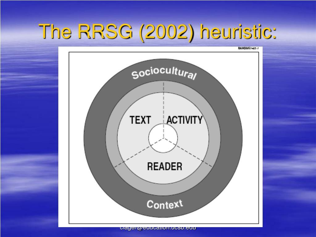 The RRSG (2002) heuristic: