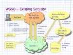 wsso existing security