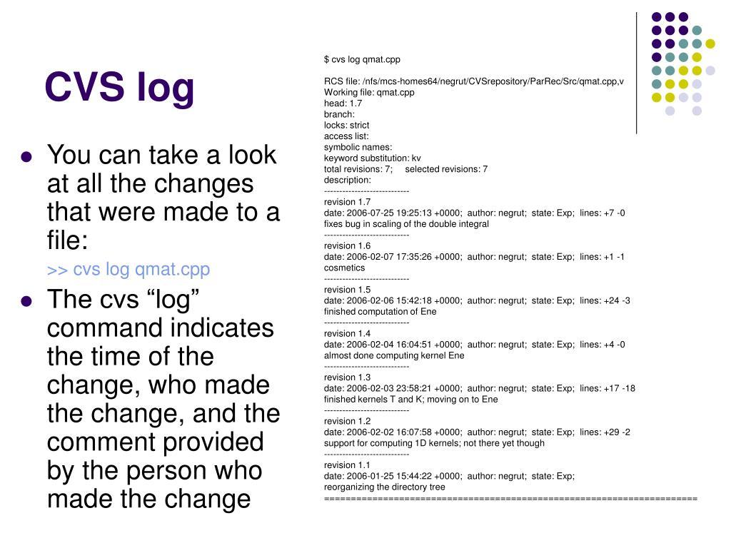 CVS log