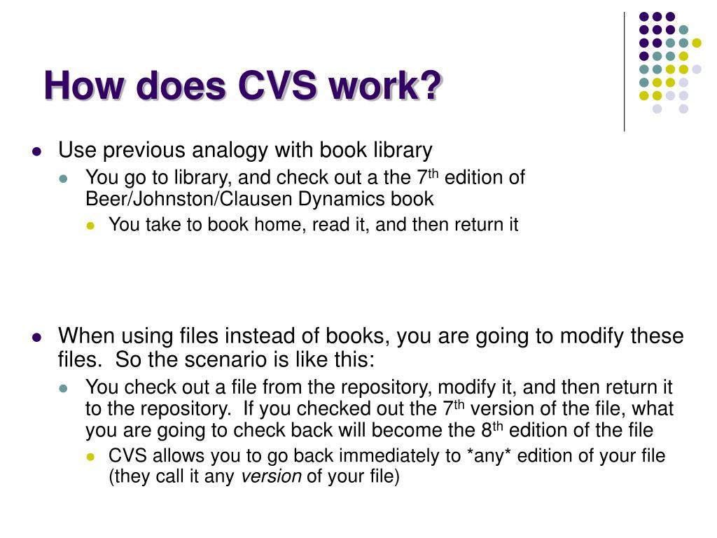 How does CVS work?