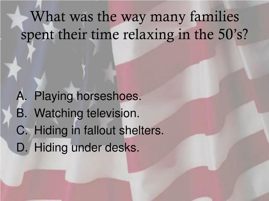 What was the way many families spent their time relaxing in the 50's?