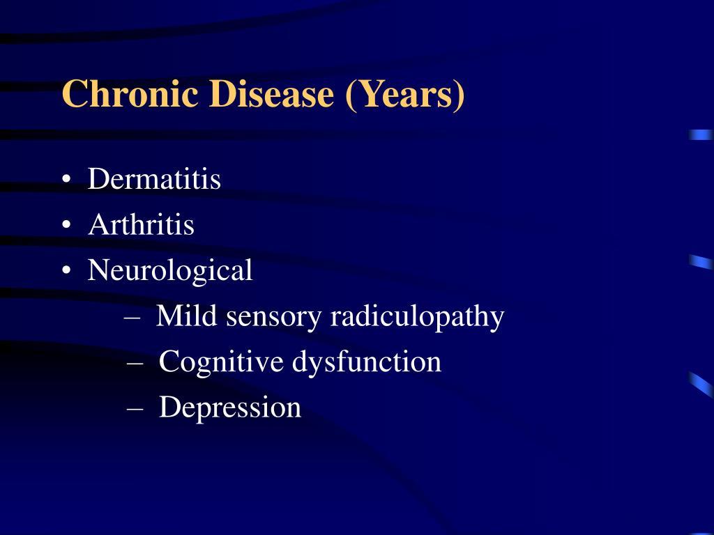 Chronic Disease (Years)