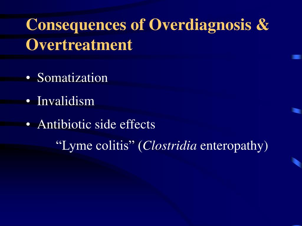 Consequences of Overdiagnosis & Overtreatment