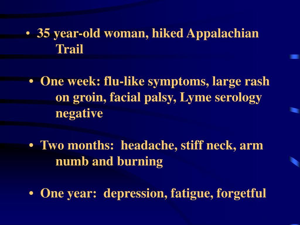 35 year-old woman, hiked Appalachian