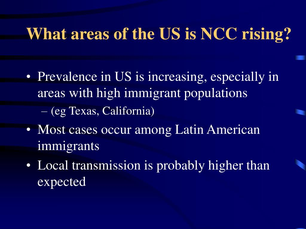 What areas of the US is NCC rising?