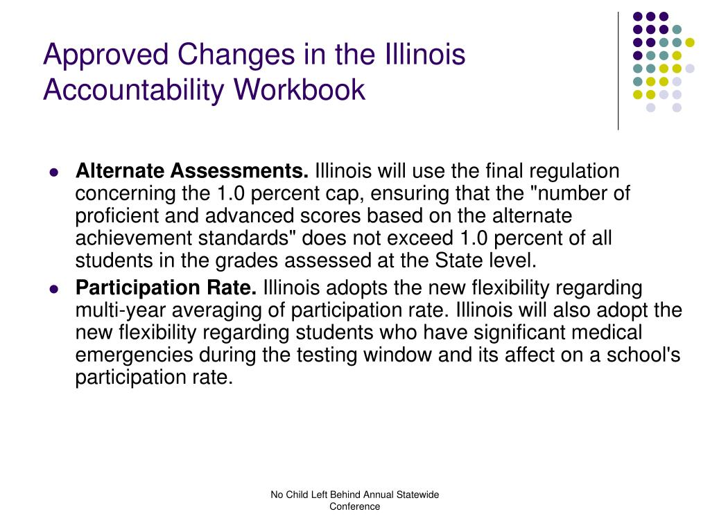 Approved Changes in the Illinois Accountability Workbook