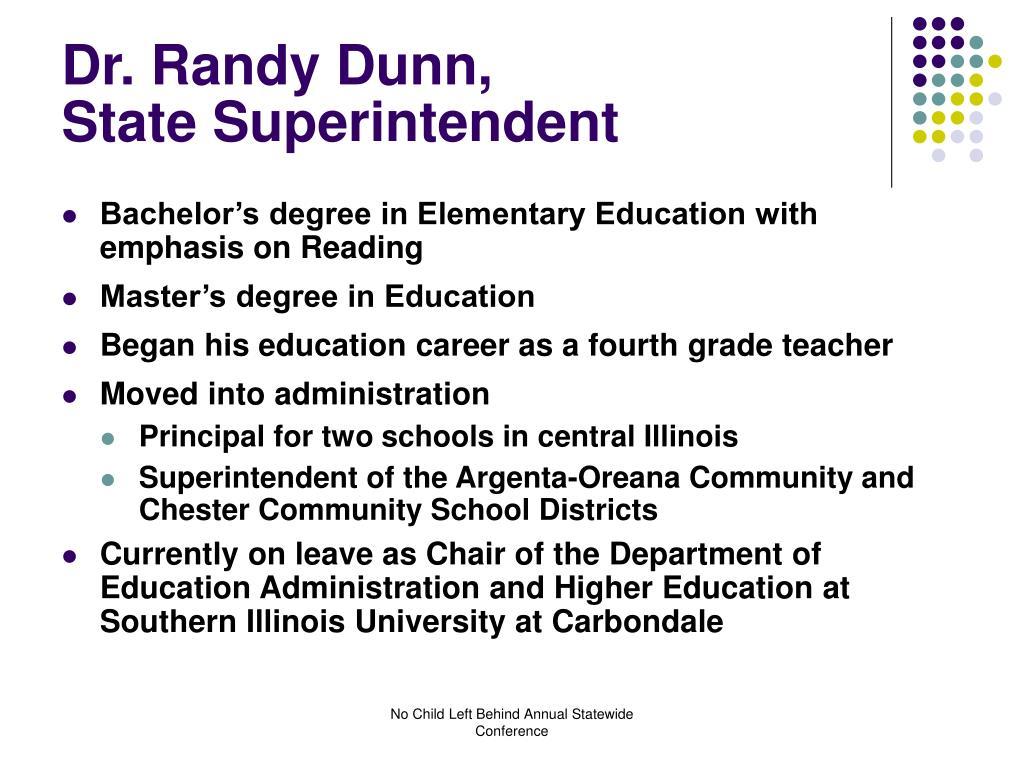 Dr. Randy Dunn,