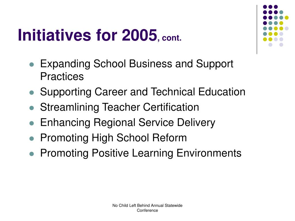 Initiatives for 2005