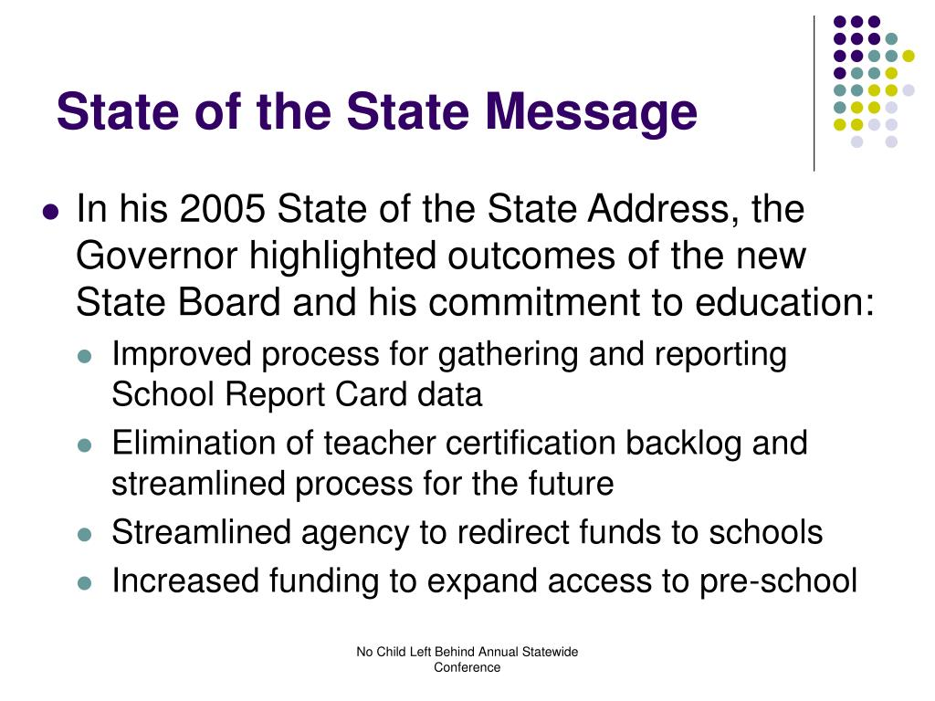 State of the State Message