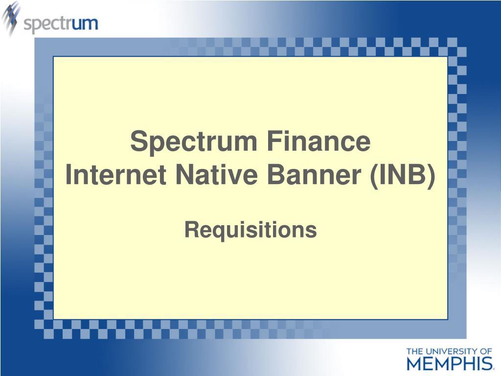 spectrum finance internet native banner inb l.
