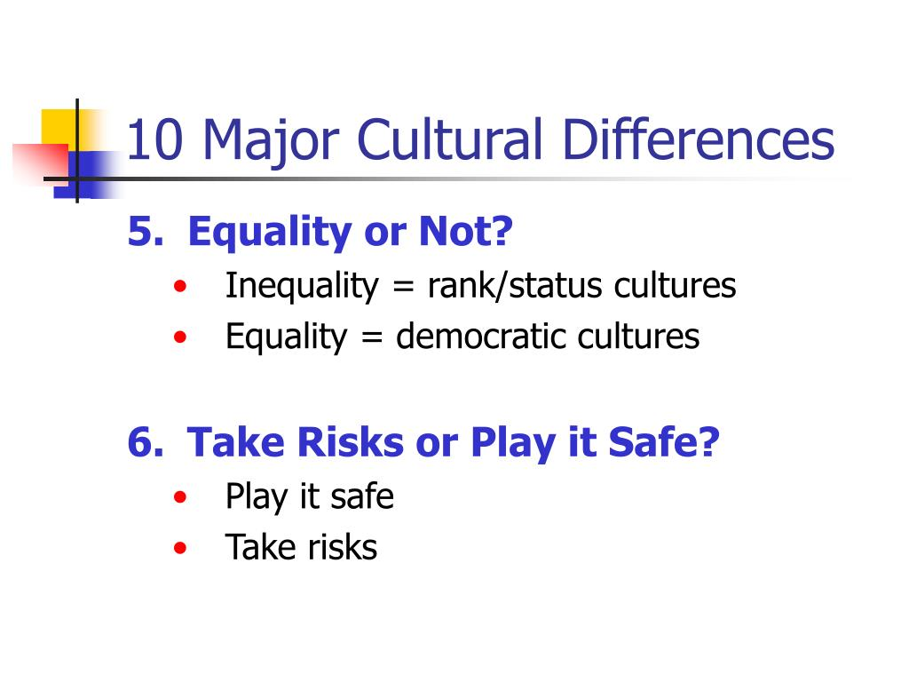 10 Major Cultural Differences