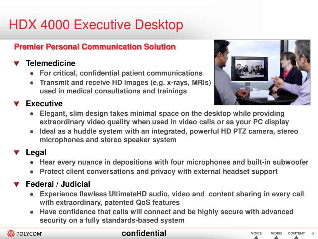 HDX 4000 Executive Desktop