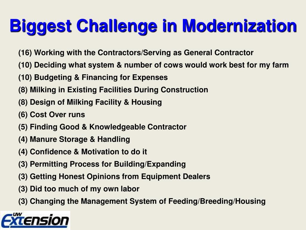 Biggest Challenge in Modernization