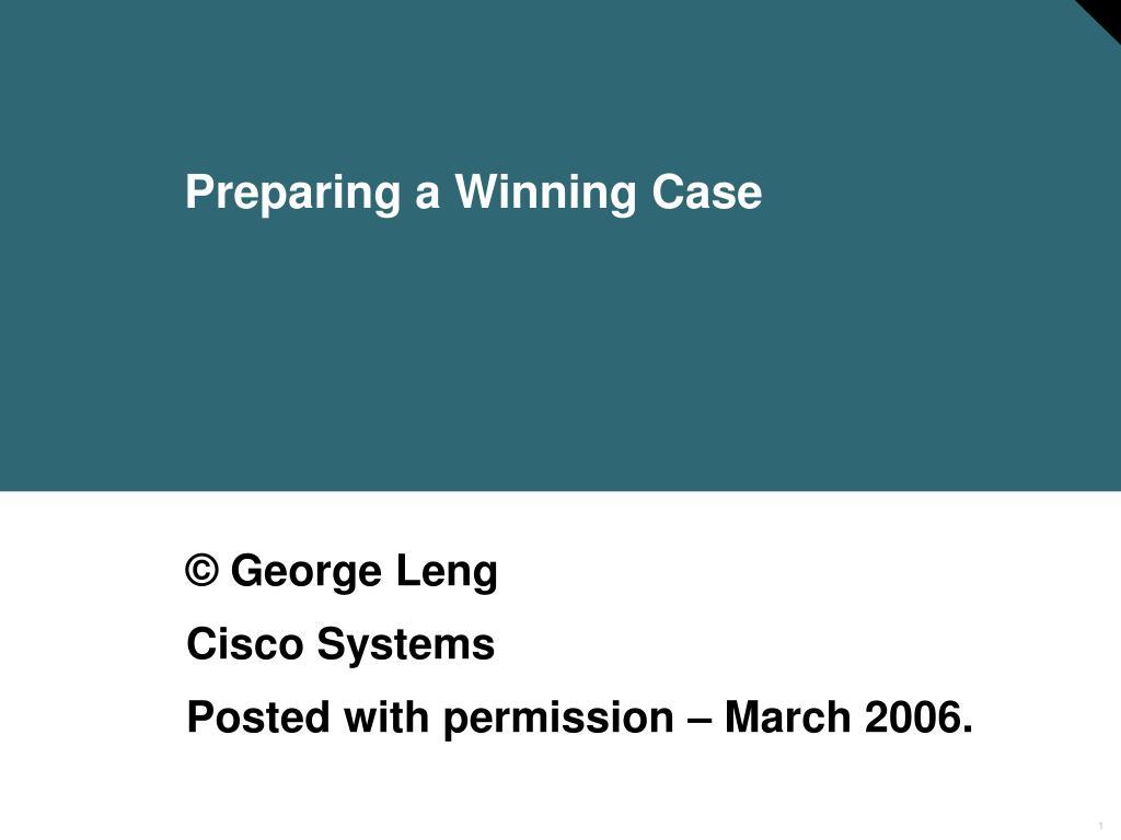 preparing a winning case l.