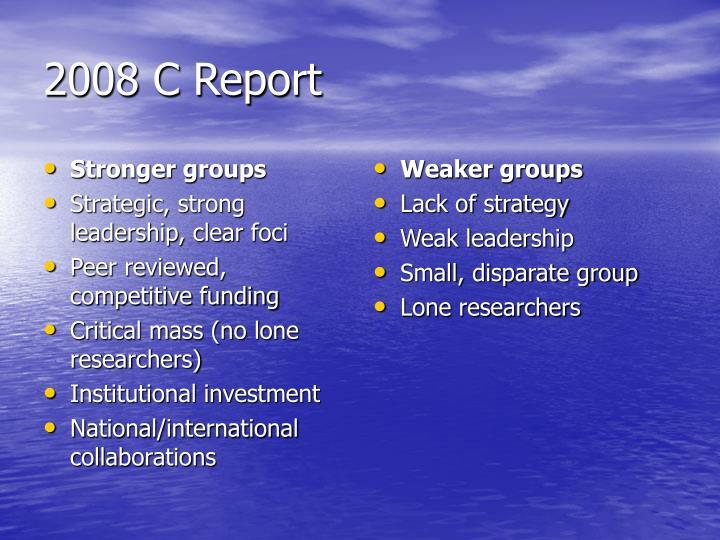 Stronger groups