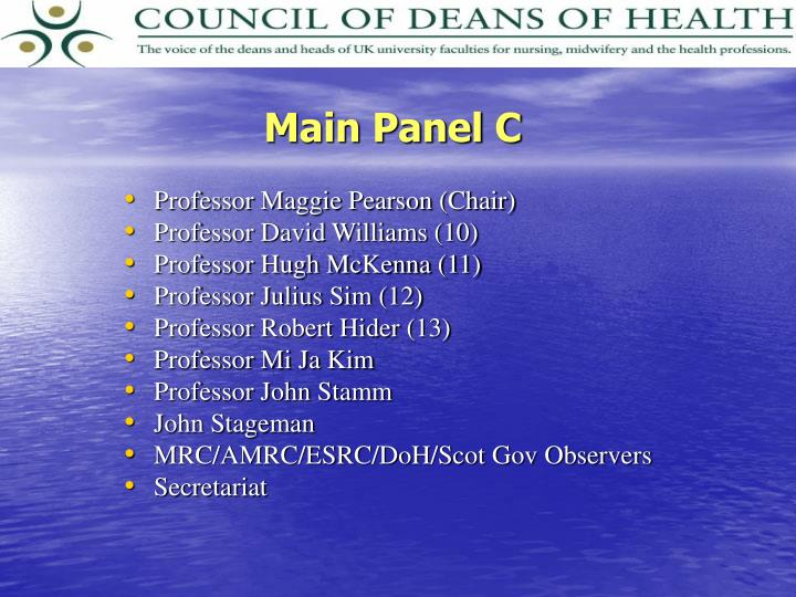 Main Panel C