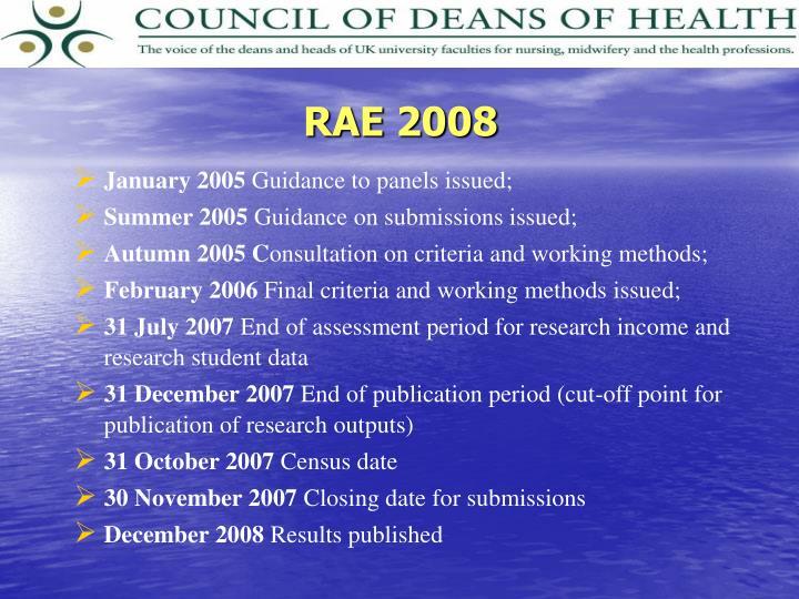 RAE 2008
