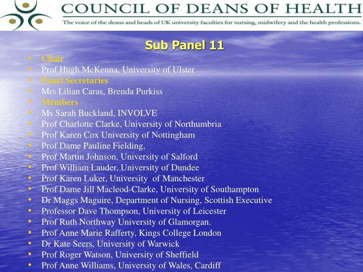 Sub Panel 11