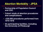 abortion morbidity jpsa