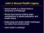 john s sexual health legacy