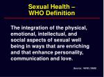 sexual health who definition