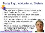 designing the monitoring system18