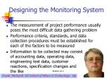 designing the monitoring system19