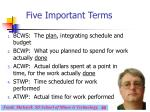 five important terms