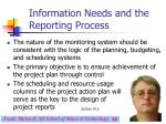 information needs and the reporting process30