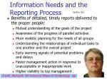 information needs and the reporting process31