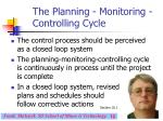 the planning monitoring controlling cycle12