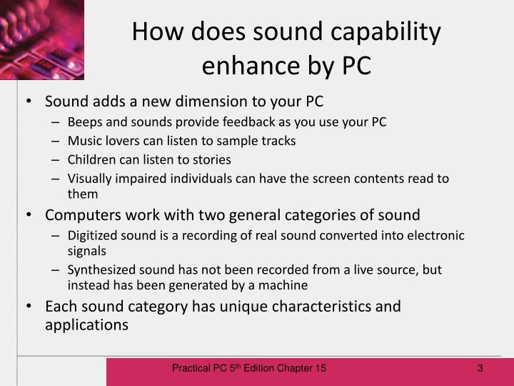 How does sound capability enhance by pc