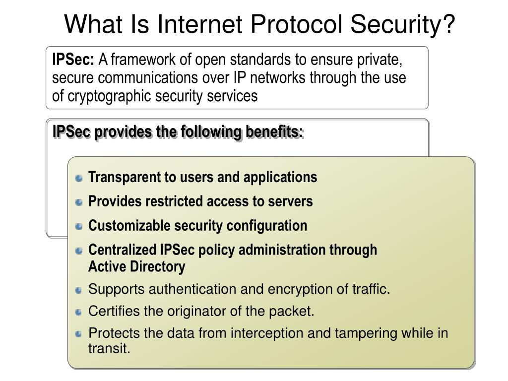 What Is Internet Protocol Security?