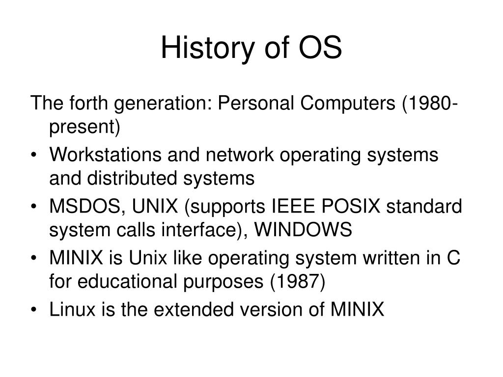 History of OS