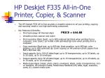 hp deskjet f335 all in one printer copier scanner