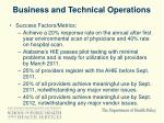business and technical operations