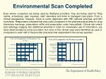 environmental scan completed4