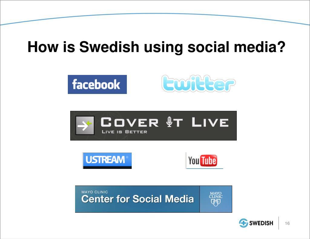 How is Swedish using social media?