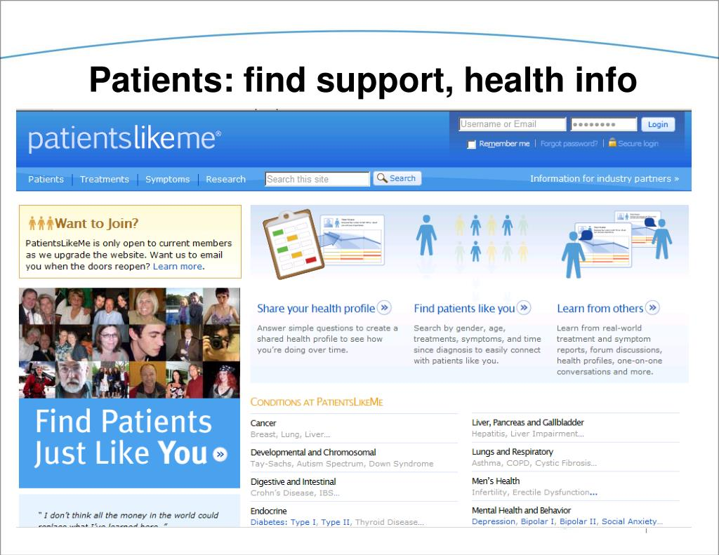 Patients: find support, health info